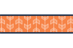 Orange and Navy Arrow Kids and Baby Modern Wall Paper Border by Sweet Jojo Designs