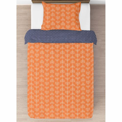 Orange and Navy Arrow Pillow Sham by Sweet Jojo Designs - Click to enlarge