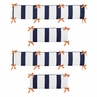 Orange and Navy Blue Arrow Collection Crib Bumper by Sweet Jojo Designs