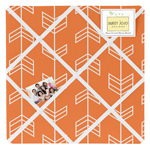 Orange and White Fabric Memory/Memo Photo Bulletin Board by Sweet Jojo Designs