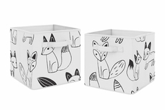 Organizer Storage Bins for Black and White Fox Collection by Sweet Jojo Designs - Set of 2