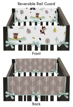 Outdoor Adventure Baby Crib Side Rail Guard Covers by Sweet Jojo Designs - Set of 2