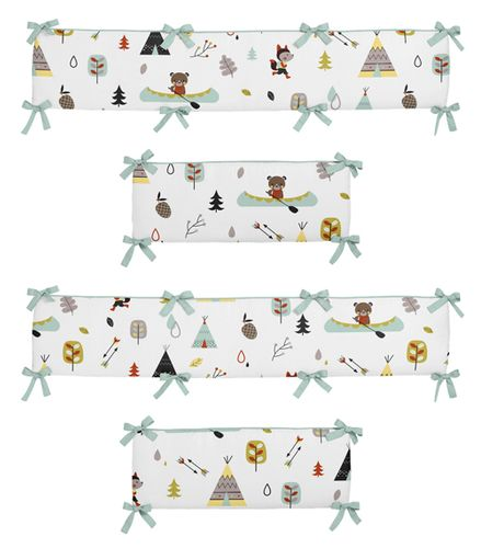 Outdoor Adventure Collection Crib Bumper by Sweet Jojo Designs - Click to enlarge
