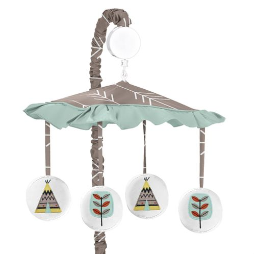Outdoor Adventure Musical Baby Crib Mobile by Sweet Jojo Designs - Click to enlarge