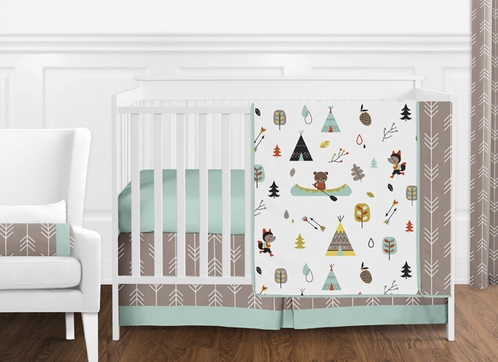 Outdoor Adventure Nature Baby Bedding - 11pc Crib Set by Sweet Jojo Designs - Click to enlarge