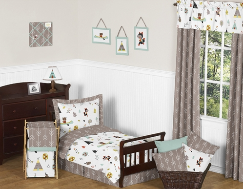 Outdoor Adventure Nature Toddler Bedding - 5pc Set by Sweet Jojo Designs - Click to enlarge