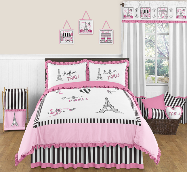 Paris 3pc Childrens and Teen Full / Queen Bedding Set by ...