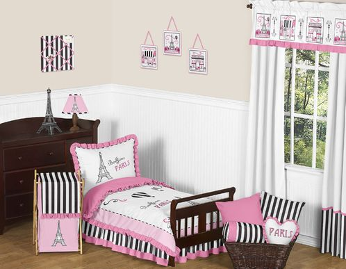 Paris Toddler Bedding - 5pc Set by Sweet Jojo Designs - Click to enlarge