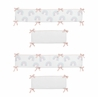 Pastel Rainbow Girl Baby Nursery Crib Bumper Pad by Sweet Jojo Designs - Blush Pink, Purple, Teal, Blue and White