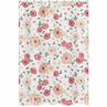 Peach and Green Bathroom Fabric Bath Shower Curtain for Watercolor Floral Collection by Sweet Jojo Designs - Pink Rose Flower