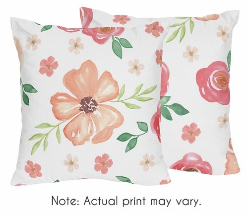 Peach And Green Decorative Accent Throw Pillows For Watercolor Beauteous Pink And Green Decorative Pillows