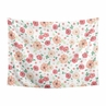 Peach and Green Shabby Chic Wall Hanging Tapestry Art Decor for Watercolor Floral Collection by Sweet Jojo Designs - Rose Flower - 60in. x 80in.