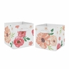 Peach and Green Watercolor Floral Organizer Storage Bins for Collection by Sweet Jojo Designs - Set of 2