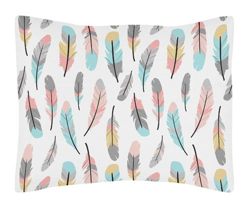 Pillow Sham for Sweet Jojo Designs Feather Collection - Click to enlarge