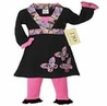 Pink and Black Butterfly Baby Girls Infant 2pc Set or Dress by Sweet Jojo Designs