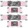 Pink and Black Funky Zebra Baby Crib Bumper Pad by Sweet Jojo Designs