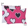 Pink and Black Hearts Pillow Sham by Sweet Jojo Designs