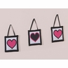 Pink and Black Hearts Wall Hanging Accessories by Sweet Jojo Designs