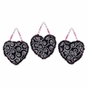 Pink and Black Madison Wall Hanging Accessories by Sweet Jojo Designs
