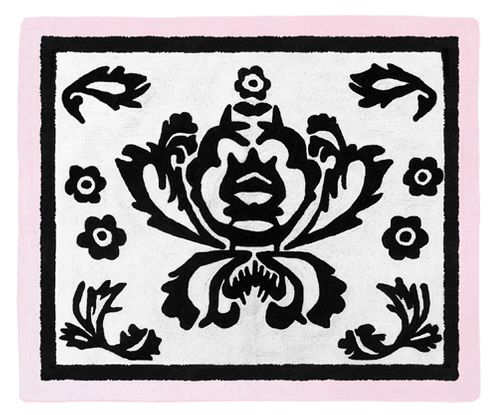 Pink and Black Sophia Accent Floor Rug - Click to enlarge