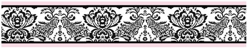 Pink and Black Sophia Baby, Kids and Teens Wall Paper Border by Sweet Jojo Designs - Click to enlarge