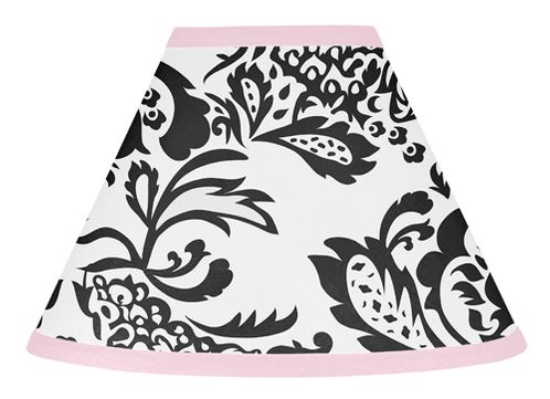 Pink and Black Sophia Lamp Shade by Sweet Jojo Designs - Click to enlarge