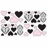 Pink and Black Sophia Peel and Stick Wall Decal Stickers Art Nursery Decor by Sweet Jojo Designs - Set of 4 Sheets