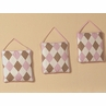 Pink and Brown Argyle Wall Hanging Accessories by Sweet Jojo Designs