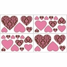 Pink and Brown Bella Baby and Kids Wall Decal Stickers - Set of 4 Sheets