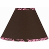 Pink and Brown Bella Lamp Shade by Sweet Jojo Designs