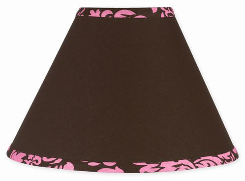 Pink and Brown Bella Lamp Shade by Sweet Jojo Designs - Click to enlarge