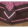 Pink and Brown Bella Queen Kids Children's Bed Skirt by Sweet Jojo Designs