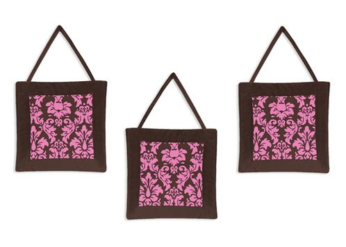 Pink and Brown Bella Wall Hanging Accessories by Sweet Jojo Designs - Click to enlarge