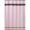 Pink and Brown Hotel Kids Bathroom Fabric Bath Shower Curtain