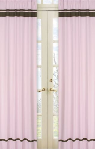 Pink and Brown Hotel Window Treatment - Set of 2 - Click to enlarge