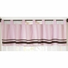 Pink and Brown Hotel Window Valance by Sweet Jojo Designs