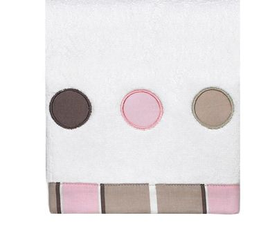 Pink and Brown Mod Dots Cotton Wash Cloth - Click to enlarge