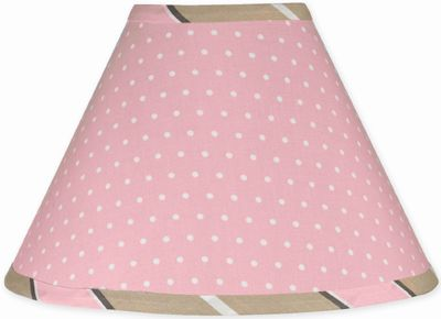 Pink and Brown Mod Dots Lamp Shade by Sweet Jojo Designs - Click to enlarge