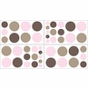 Pink and Brown Mod Dots Peel and Stick Wall Decal Stickers Art Nursery Decor by Sweet Jojo Designs - Set of 4 Sheets