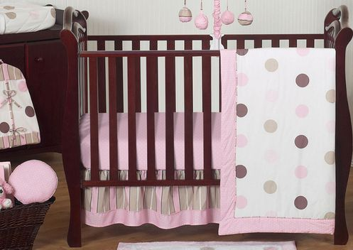 Pink And Brown Modern Polka Dot Baby