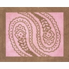 Pink and Brown Paisley Accent Floor Rug