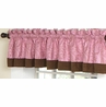 Pink and Brown Paisley Girls Window Valance