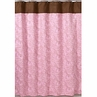 Pink and Brown Paisley Kids Bathroom Fabric Bath Shower Curtain