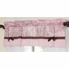 Pink and Brown Toile and Polka Dot Girls Window Valance by Sweet Jojo Designs