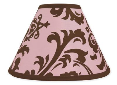 Pink and Chocolate Nicole Lamp Shade by Sweet Jojo Designs - Click to enlarge