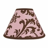 Pink and Chocolate Nicole Lamp Shade by Sweet Jojo Designs