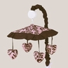 Pink and Chocolate Nicole Musical Baby Crib Mobile by Sweet Jojo Designs