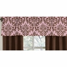 Pink and Chocolate Nicole�Window Valance by Sweet Jojo Designs