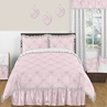 Pink and Gray Alexa Butterfly 3pc Full / Queen Girls Bedding Set by Sweet Jojo Designs