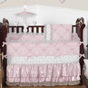 Pink and Gray Alexa Butterfly Baby Bedding - 9pc Crib Set by Sweet Jojo Designs